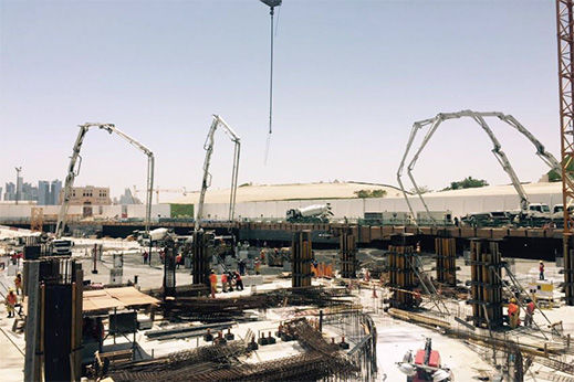 Construction And Development Of South Plaza In Katar